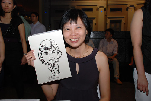 Caricature live sketching for Autism Association(Singapore)- Staff Dinner 2010 - 7