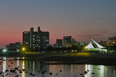 A Night Opening (halfrain) Tags: sunset japan 50mm town twilight sigma  foveon  1750mm sigma175028 sd14 sigma1750mm  sigma1750mmf28