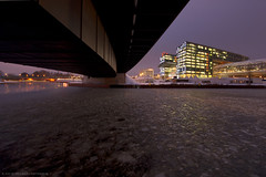 Pure Winter in Berlin II (Dietrich Bojko Photographie) Tags: bridge winter berlin evening abend explore hauptbahnhof spree eis frontpage dietrichbojko dietrichbojkophotographie