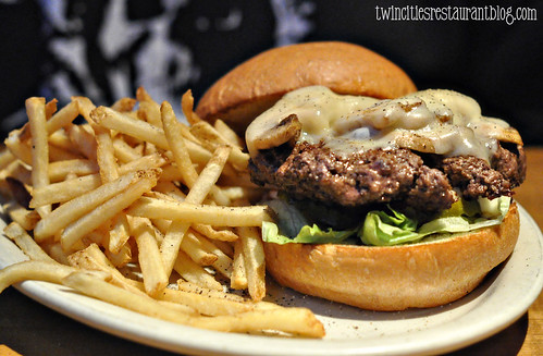Mushroom Swiss Burger at Joe Senser's ~ Roseville, MN