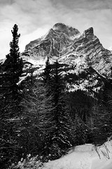 Galatea Trail (0rovert (  )) Tags: winter bw canon kananaskis alberta snowshoeing 1022mm galatea november2010