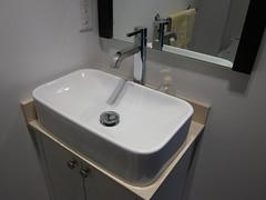 Powder room sink, done!