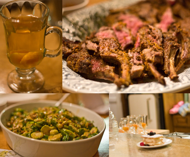 Warm Winter Margarita, Brussels Sprouts, and the most Amazing Rack of Lamb!