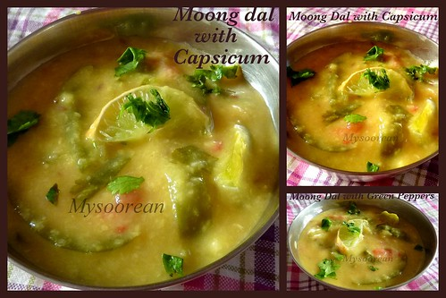 Moong Dal with Capsicum