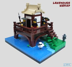 Lakehouse Kidnap (2 Much Caffeine) Tags: castle pond lego ninja oriental lakehouse moc