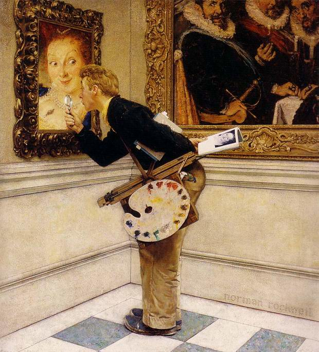 Norman- Rockwell- The-Art-Critic-1955-
