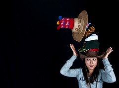 Headwear (Explore) (ryklin) Tags: light portrait woman color colors beautiful hat nikon colorful hats taiwan cap portraiture keelung headwear nikond90 ourdailychallenge nikon18200vrll