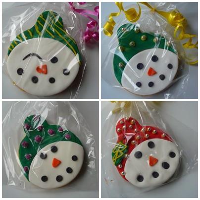 snowman cookie 2