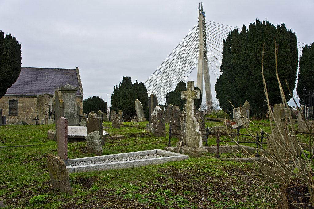 St. Nahi's Church in Dundrum And The William Dargan Bridge [The Old And The New]