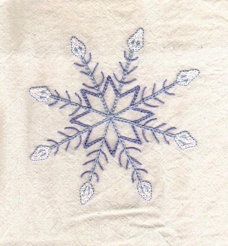snowflake muslin tea towel motif 1