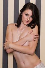 Kaitlyn (Disorderly) Tags: woman brown sexy girl beautiful beauty panties female hair naked nude necklace long pretty underwear bare gorgeous young lingerie pearls topless attractive brunette lovely nudity undressed undergarments