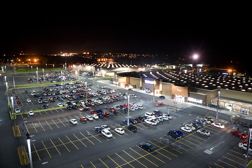 LED Parking lot lights at Walmart Puerto Rico