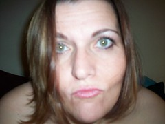 pucker up! (funkygreeneyedlady) Tags: bbw headshot lips greeneyes puckerup hazelgreeneyes