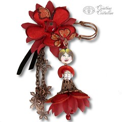 Broche Miss (Crations Cristalline) Tags: broche bijou fimo jewellry polymre