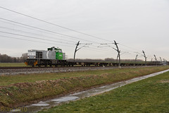 RTB V156 + containerwagens - Haaften - 20101213 (Cees_1251) Tags: goederen rtb haaften rurtalbahn containerwagens v156