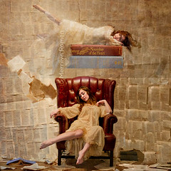 Dreaming. (Merrilyn Romen) Tags: moody surrealism dream surreal levitation dreaming textures brookeshaden