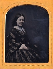 Susan Franklyn, English 1/9th-Plate Ruby Ambrotype, Circa 1856 (lisby1) Tags: portrait fashion century vintage photography early 19thcentury 1800s victorian tintype ambrotype daguerreotype geneology 19th earlyphotography nineteenthcentury