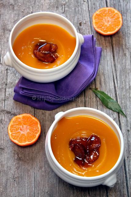 crema zucca, mandarino e mostarda di mele