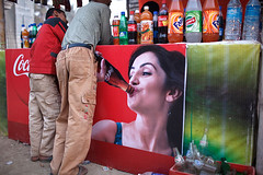 Coke - Sonepur Mela, India (Maciej Dakowicz) Tags: india bottle asia drink streetphotography coke humour cocacola bihar sonepur sonepurmela