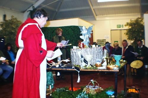 Druid at Winter Solstice Ceremony