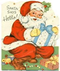 """Santa Says Hello"" (reinap) Tags: santa christmas illustration card santaclaus"