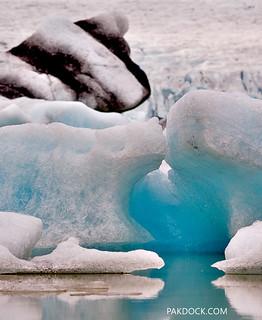 Blue Iceberg at Fjallsárlón