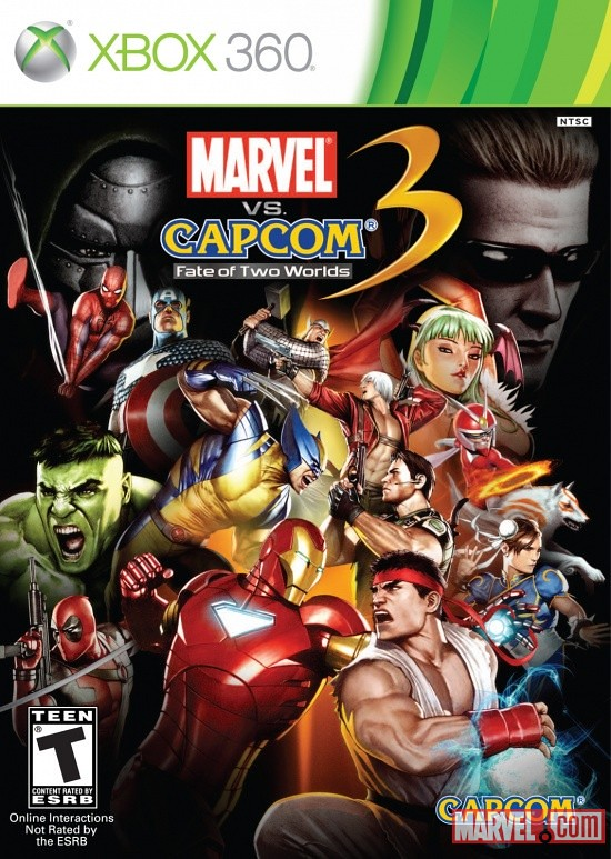 Marvel vs Capcom 3 Fate of Two Worlds Box Art