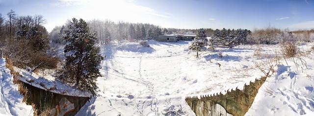 MN6360 - Téli panoráma a fedezék tetejéről
