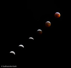 Lunar Eclipse 2010 - Progression, Folsom, California (Sudheendra Kadri) Tags: california longexposure moon nature northerncalifornia eclipse folsom progress 2010 lunareclipse sudhi wintersoltice sudheendrakadri