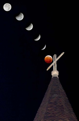 2010 Winter Solstice Lunar Eclipse - St. Louis Cathedral Jackson Square New Orleans