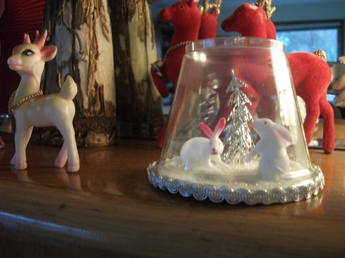 bunnies winter wonderland terrarium