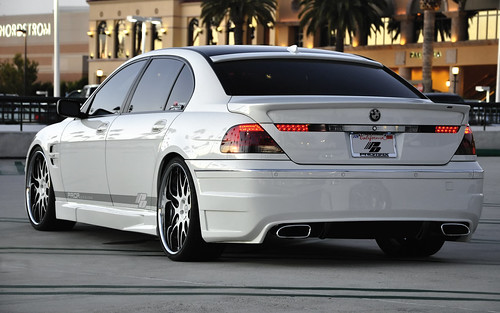 BMW 7 Series E65 E66 White 745LI Full Prior Design Kit And 22