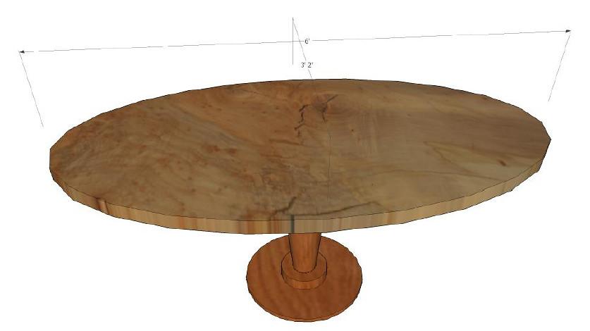 """Spanish-Mediterranean"" Elliptical Table"