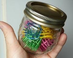 Hexastix in a jar