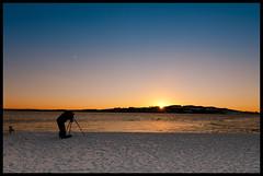 must catch this (Jcscoob) Tags: camera blue sunset orange castle ice beach ferry scotland sand nikon dundee tripod broughty d90 jcscoob