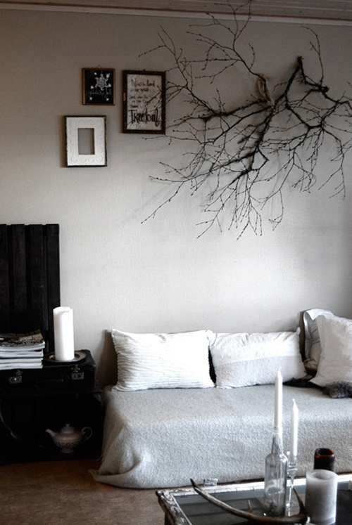 branch as wall decoration