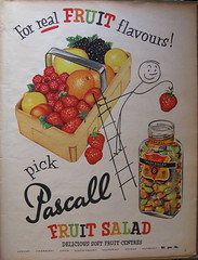 Pascall's Fruit Salad - sweets advert, 1955 (mikeyashworth) Tags: 1955 advert everybodys pascall everybodysweekly pascallssweets pascallsboiledsweets mikeashworthcollection