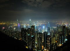 Hong Kong - The View from The Peak (cnmark) Tags: china plaza tower night skyscraper landscape geotagged island hongkong noche harbor commerce cityscape view skyscrapers nacht harbour centre central peak bank victoria hong kong international noite  thepeak sha  kowloon icc nuit  notte tsimshatsui tsim tsui admiralty nachtaufnahme finance wanchai boc centralplaza 2ifc  2internationalfinancecentre  allrightsreserved   tripleniceshot mygearandmepremium mygearandmebronze mygearandmesilver mygearandmegold mygearandmeplatinum mygearandmediamond dblringexcellence geo:lon=114150157 geo:lat=22271438 aboveandbeyondlevel1 aboveandbeyondlevel2 aboveandbeyondlevel3