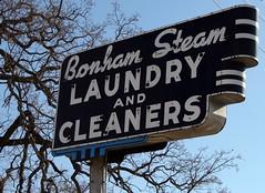 bonham steam neon sign