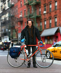 BikeNYC Portrait: Hal (Dmitry Gudkov) Tags: nyc newyorkcity bike bicycle dreadlocks vintage cyclist manhattan cab taxi biker bicyclist schwinn roadbike bikeshop bikemechanic bikecommuter bikerepair bicyclecommuter bikenyc bicyclemechanic bikeportrait citycycling cyclechic brooklynphotographer halruzal bicyclehabitat bicycleportrait dmitrygudkovphotography bokehpanorama brenizermethod bikephotographer