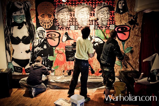 Eddie Colla Hugh Leeman D Young V - Urban Osmosis street art show  LOPO Gallery SF - Eddie Colla Shark Toof D Young V Hugh Leeman GATS RAS TERMS Eon 75 and more  - curated by Spoke Art - Warholian by MichaelCuffe