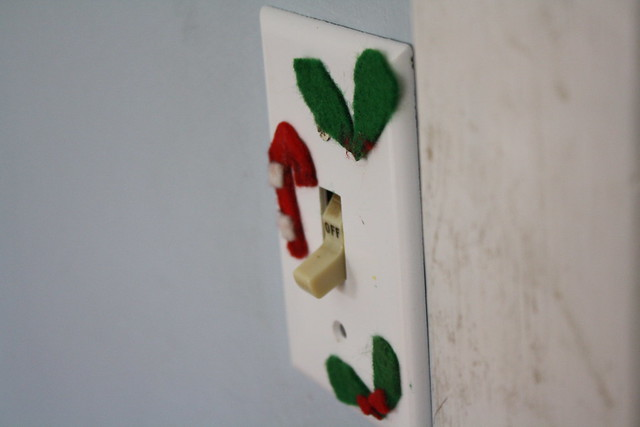 the old christmas switchplate