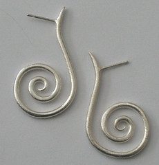 spiral earrings (katejonespictures) Tags: jewelry sterlingsilver katejones