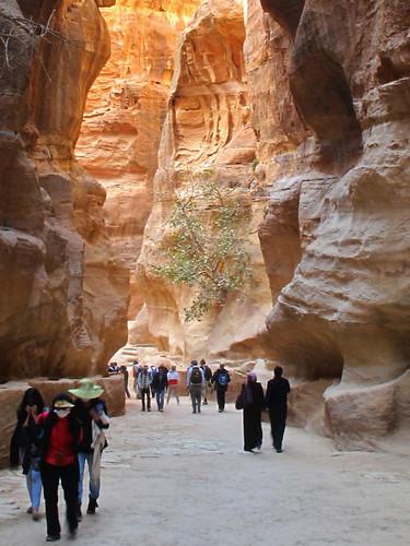 Siq leading to Petra