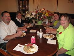 Great meal Mom! (birchloki) Tags: family ohio people food sisters dinner mom fun parents brothers sister brother meals siblings parent meal supper sibling goodfood edon edonohio