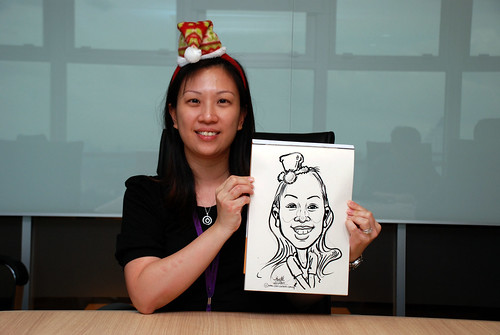Caricature live sketching for Vopak Christmas Party 2010 - 24