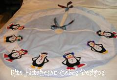 Penguin Themed Christmas Tree Skirt 12-2010