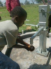 water flowing at ebusyubi primary school