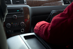 Nana. (Niklas Weikert) Tags: red reflection car canon driving grandmother massachusetts tahoe 60d 02066