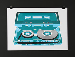 Cassette by Tom Rowe (bobeightpop) Tags: screenprint bep bobeightpop